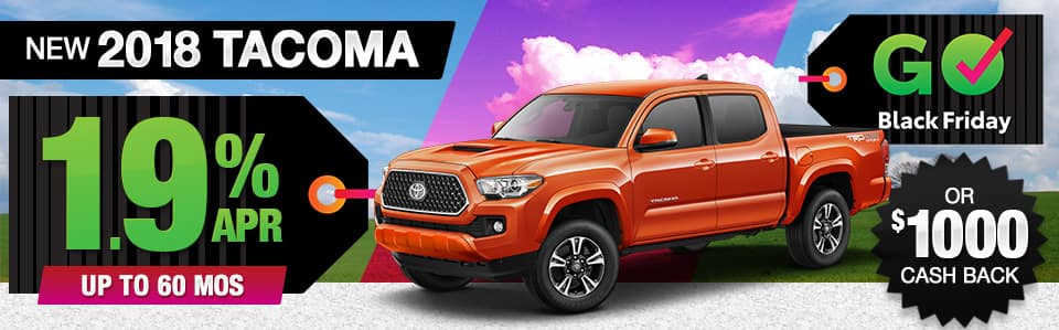 2018 Toyota Tacoma Finance or Cash Back Special