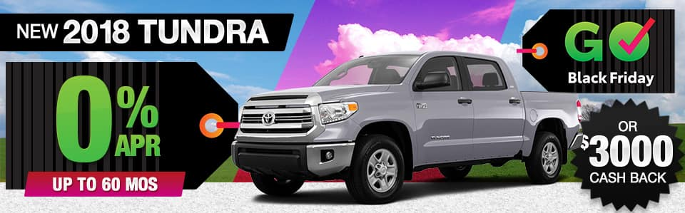 2018 Toyota Tundra Finance or Cash Back Special