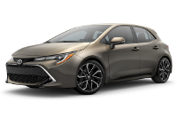 2019 Corolla Hatchback XSE Model Trim Features - Options