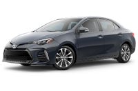 2019 Corolla XSE Trim Model Features - Options