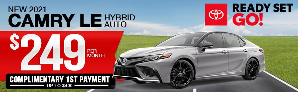New 2021 Camry Hybrid Lease Special