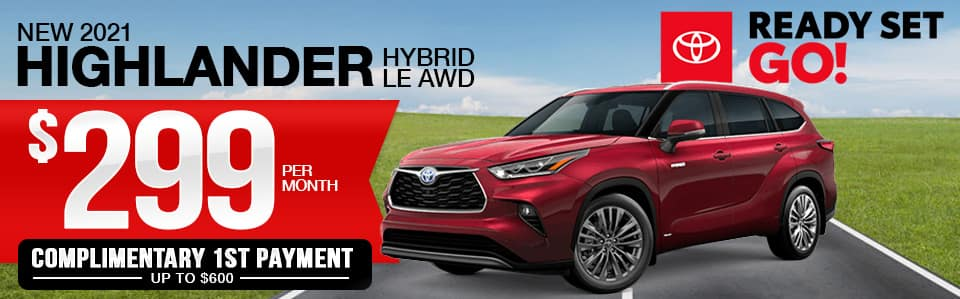 New 2021 Toyota Highlander Hybrid Lease Special