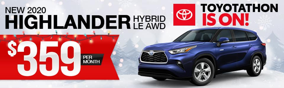 New 2020 Toyota Highlander Hybrid Lease Special