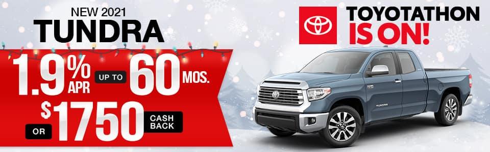 New 2021 Toyota Tundra Finance Special