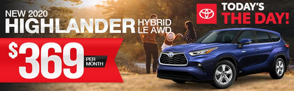 New 2020 Toyota Highlander Hybrid Lease Special