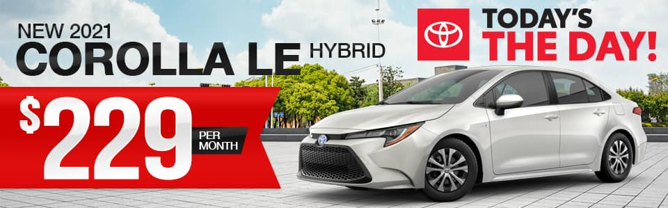 New 2021 Toyota Corolla Hybrid Lease Special