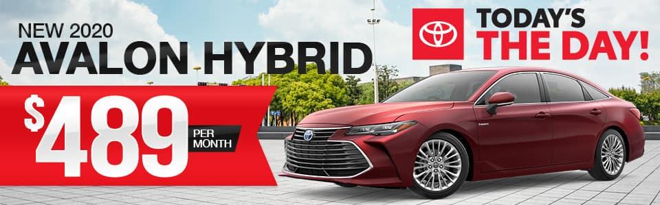 New 2020 Avalon Hybrid Lease Special