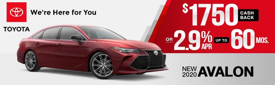 New 2020 Toyota Avalon Finance Special