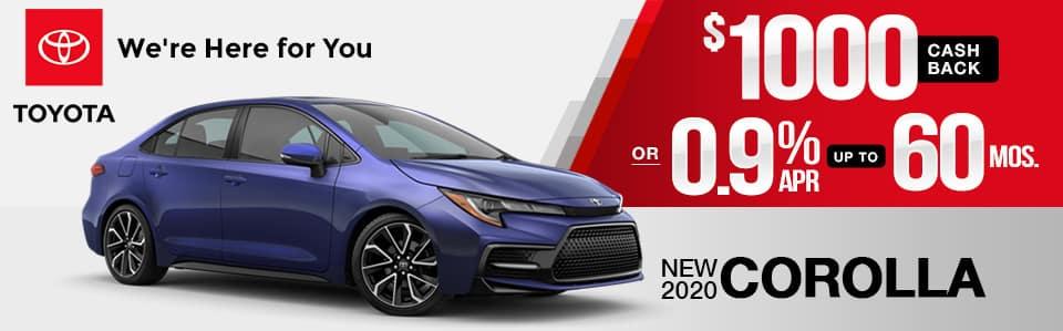 2020 Toyota Corolla Finance Special
