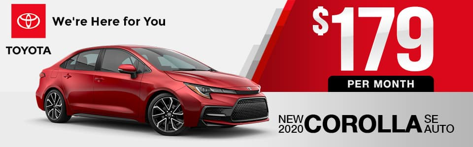 New 2020 Toyota Corolla Lease Special