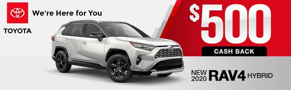 New 2020 Toyota RAV4 Hybrid Finance Special