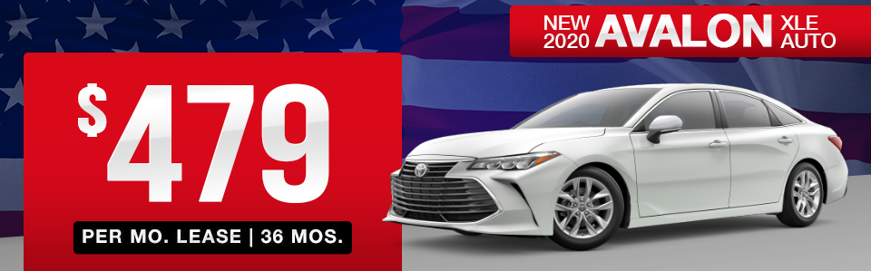 New 2020 Avalon Lease Special