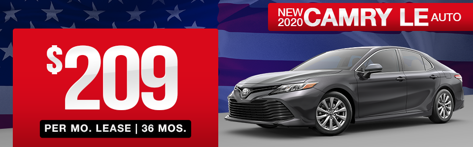 New 2020 Camry Lease Special