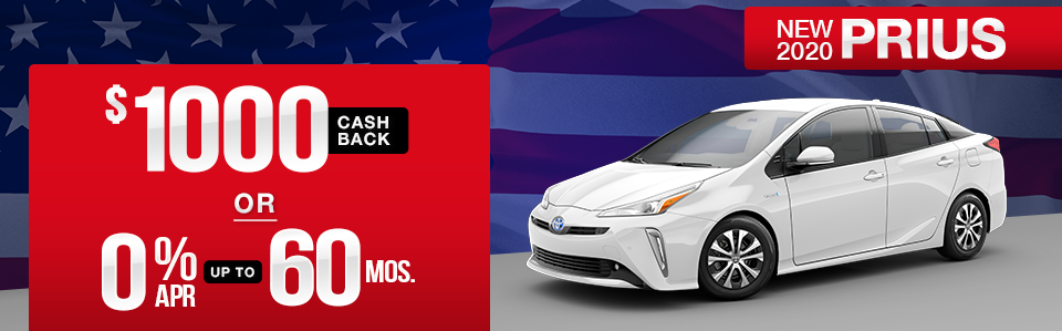New 2020 Toyota Prius Finance Special