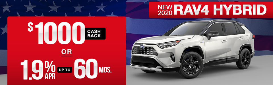 New 2020 Toyota RAV4 Hybrid Finance Special