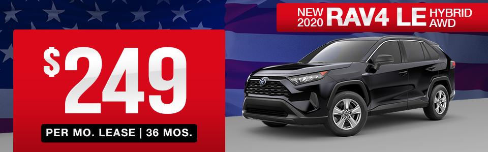 New 2020 Toyota RAV4 Hybrid Lease Special