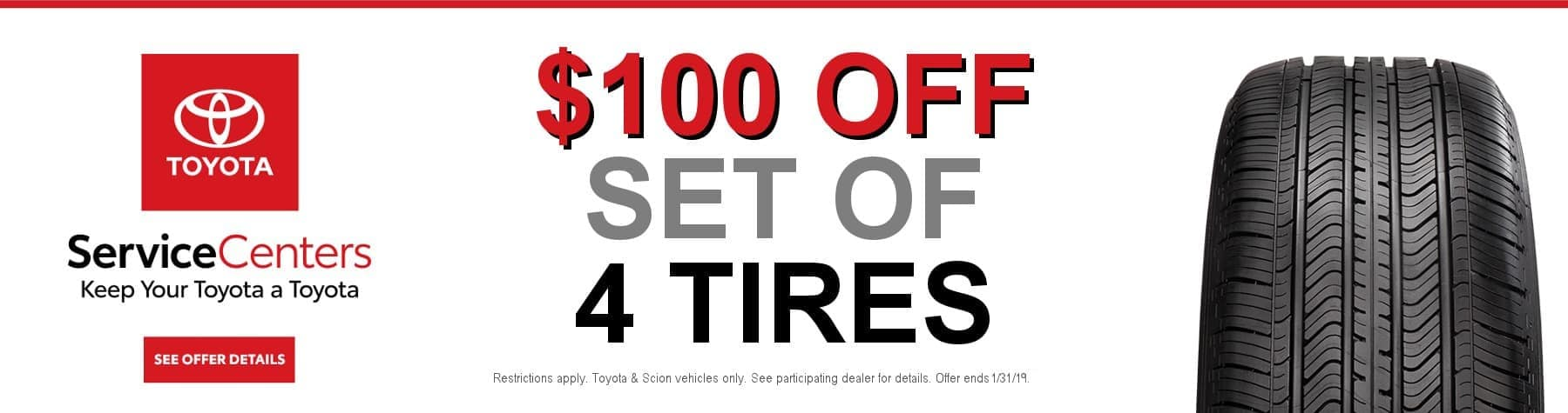 toyota service - tire special