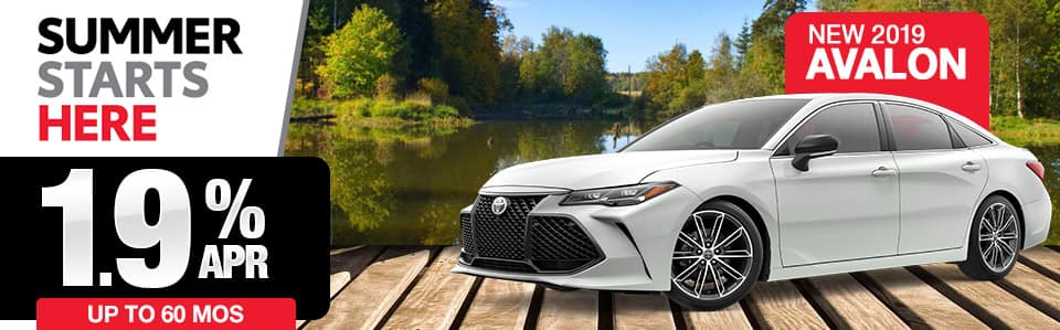 New 2019 Toyota Avalon Finance Special