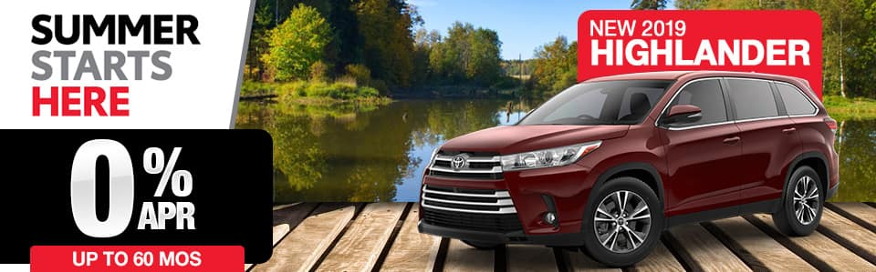 New 2019 Toyota Highlander Finance Special