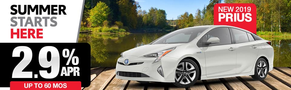 New 2019 Toyota Prius Finance Special