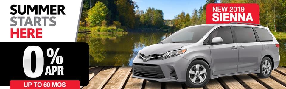 New 2019 Toyota Sienna Finance Special