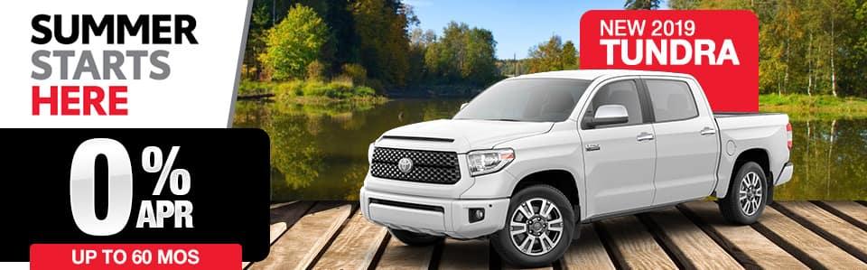 New 2019 Toyota Tundra Finance Special