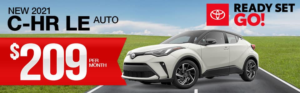 New 2021 Toyota C-HR Lease Special