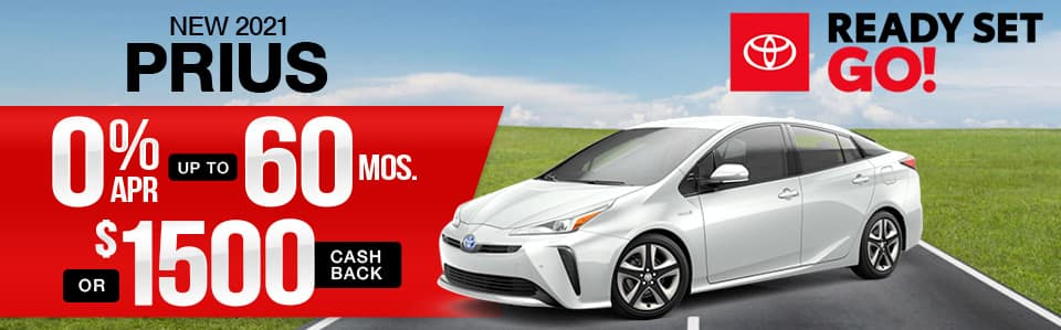New 2021 Toyota Prius Finance Special