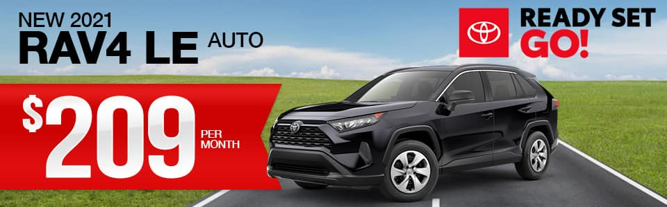 New 2021 Toyota RAV4 Lease Special