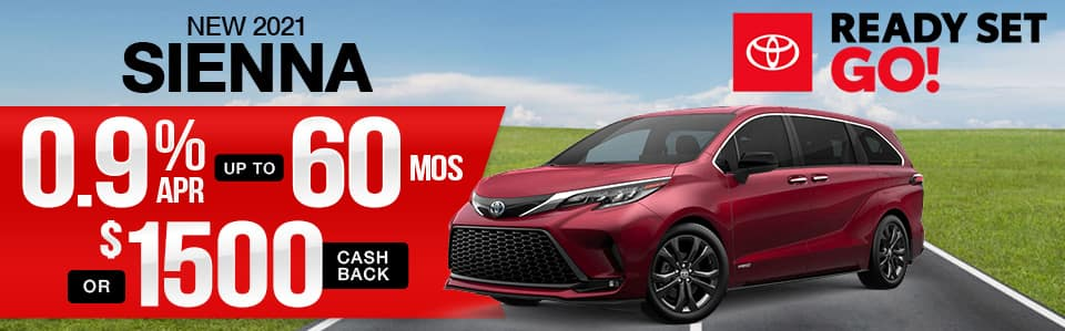 New 2021 Toyota Sienna Finance Special