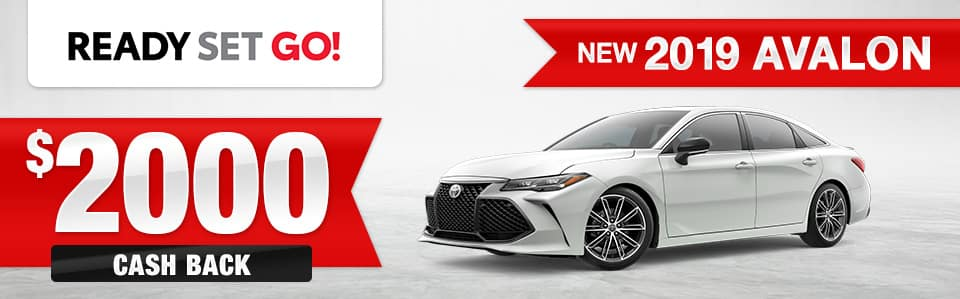 New 2019 Toyota Avalon Cash Back Special