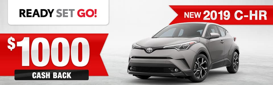 New 2019 Toyota C-HR Cash Back Special