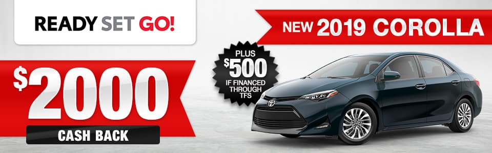 2019 Toyota Corolla Cash Back Special