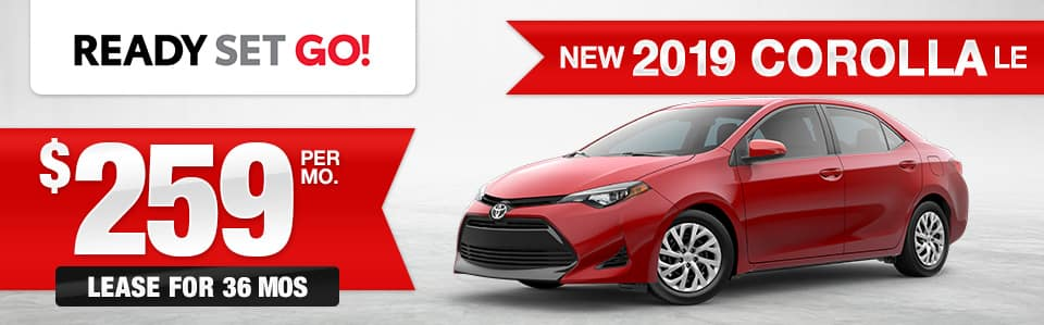 New 2019 Toyota Corolla Lease Special