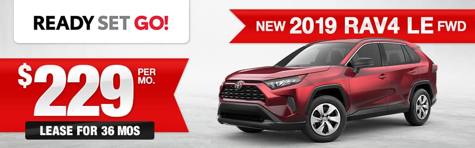 New 2019 Toyota RAV4 Lease Special
