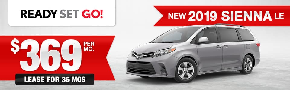 New 2019 Toyota Sienna Lease Special