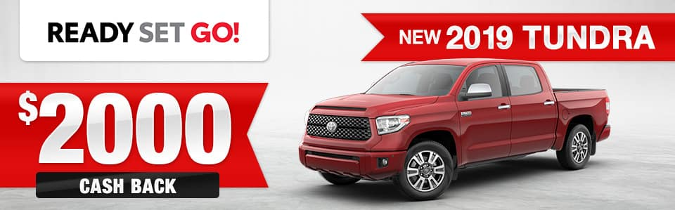 New 2019 Toyota Tundra Cash Back Special
