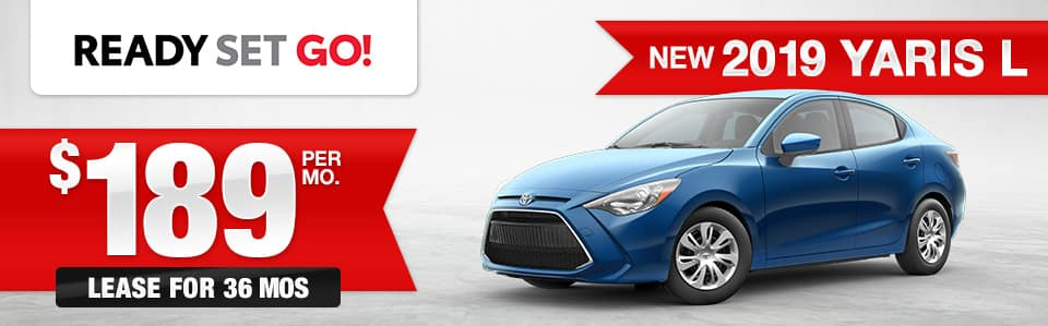 New 2019 Toyota Yaris Lease Special
