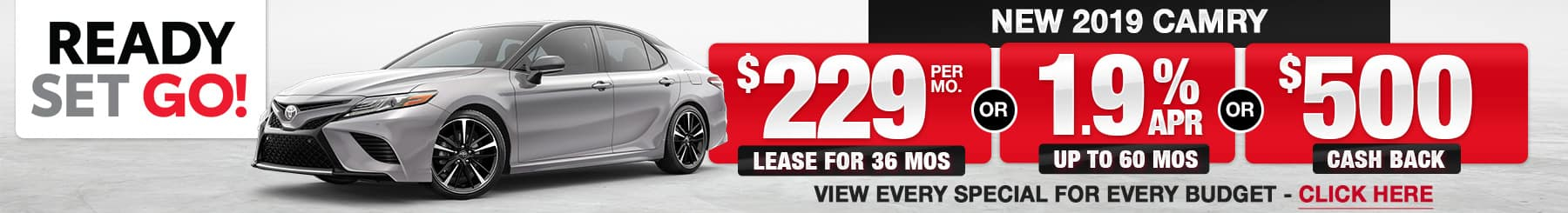 2019 Camry Lease or Finance Offers