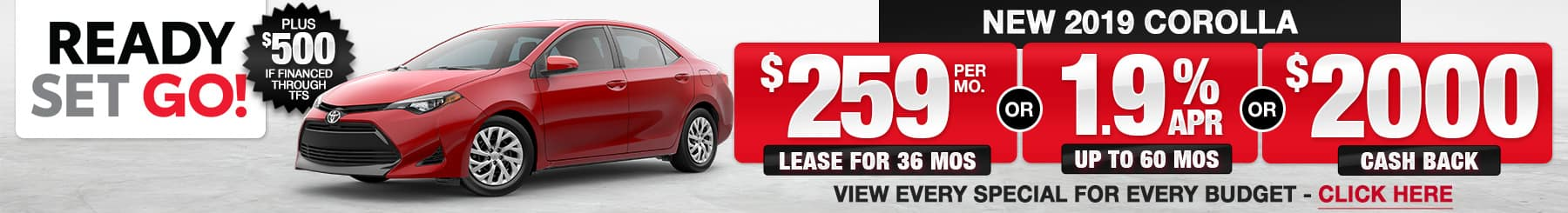 2019 Corolla Lease or Finance Offers
