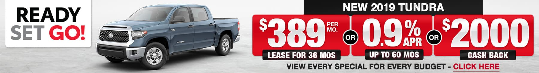 2019 Tundra Lease or Finance Offers