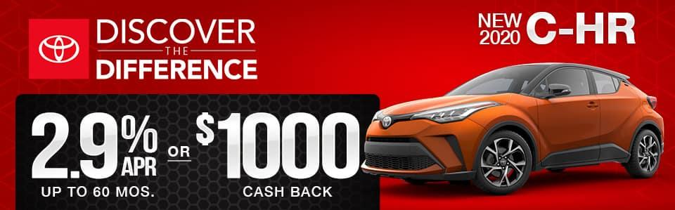 New 2020 Toyota C-HR Finance Special