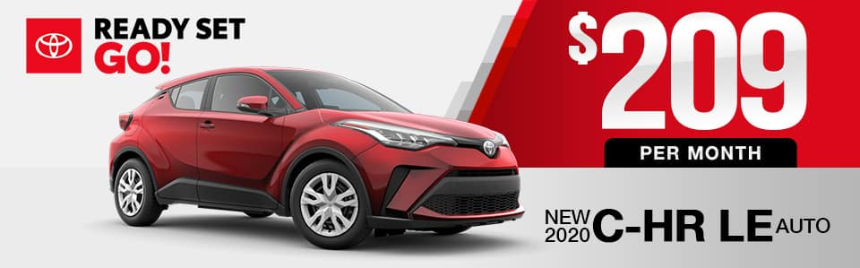 New 2020 Toyota C-HR Lease Special