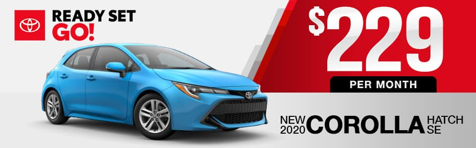 New 2020 Toyota Corolla Hatchback Lease Special