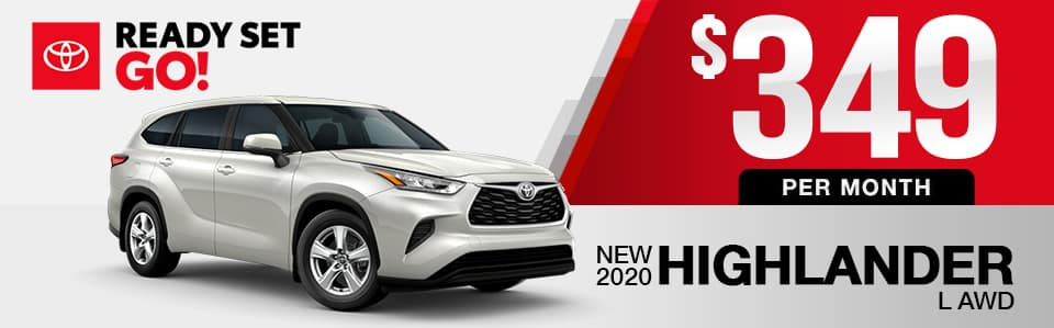 New 2020 Toyota Highlander Lease Special