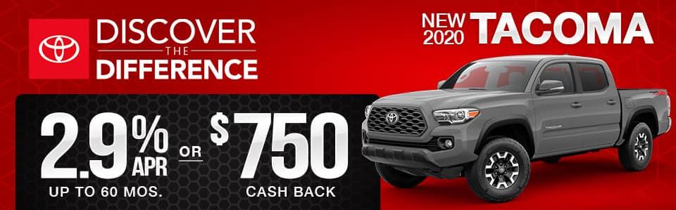 New 2020 Toyota Tacoma Finance Special
