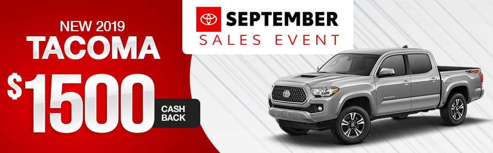 New 2019 Toyota Tacoma Cash Back Special