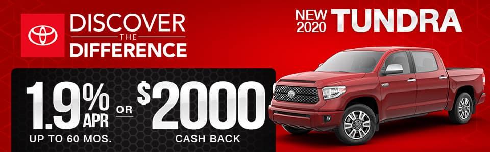 New 2020 Toyota Tundra Finance Special