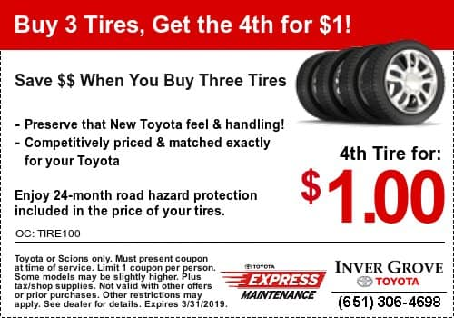 Toyota Tire Coupon Special