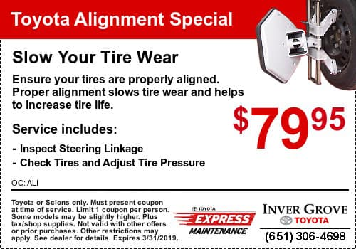 Toyota Alignment Coupon Special